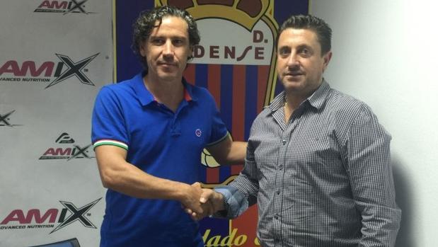 Raúl Garrido y Germán Torregrosa, presidente del Eldense