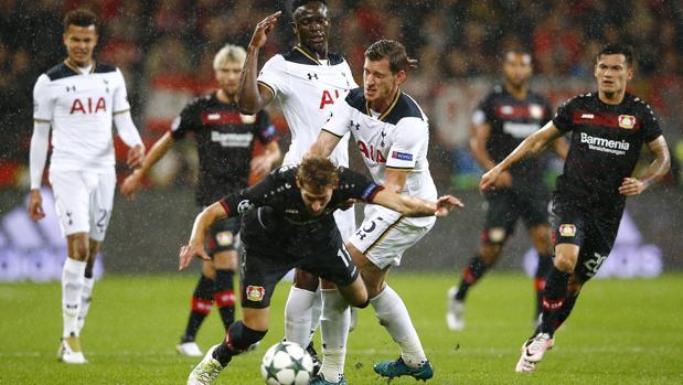 Leverkusen-Tottenham:  Empate en un partido de dos caras