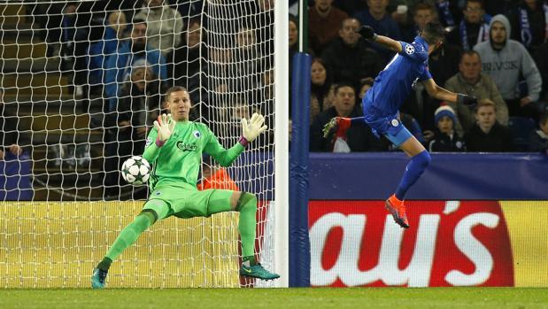 Leicester-Copenhague:  Mahrez prolonga el sueño del Leicester