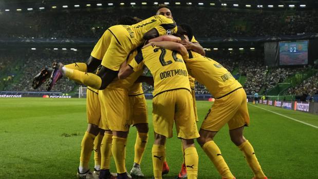Sporting-Dortmund:  El Dortmund mantiene el pulso al Madrid