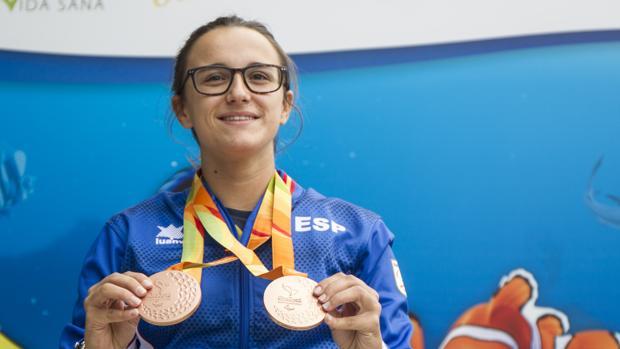 María Delgado, con sus dos bronces paralímpicos