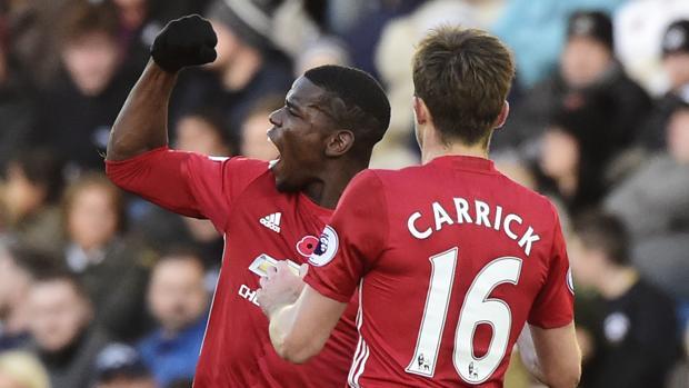 Swansea-Manchester United:  Pogba e Ibrahimovic dan aire al United de Mourinho