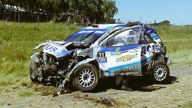 El extenista David Nalbandian, ileso en un aparatoso accidente de rally