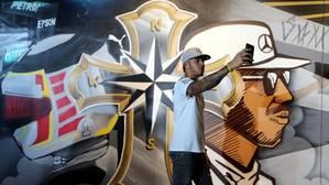 El espectacular grafiti de Hamilton en Sao Paulo