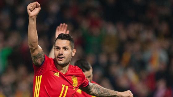 Así ha celebrado Vitolo su gol, segundo de España