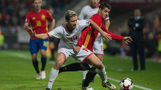 Morta pugna con un jugador de Macedonia