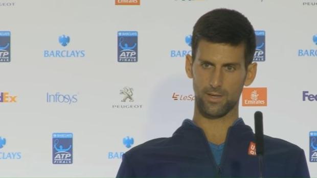 Copa de Maestros:  Djokovic: «¿Acaso soy el único que se enfada en la pista?»
