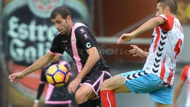 Trashorras, durante el partido en Lugo