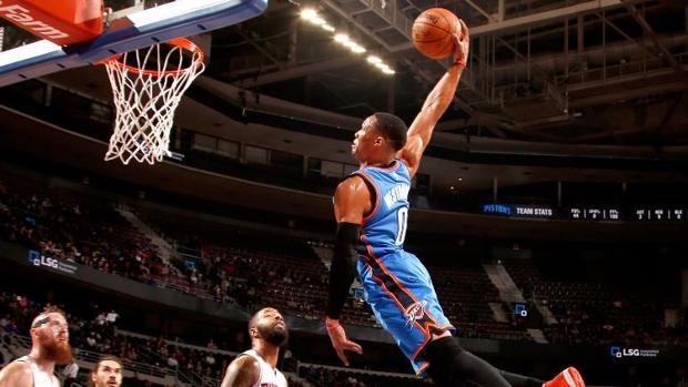 NBA:  La animalada de Russell Westbrook ante los Pistons