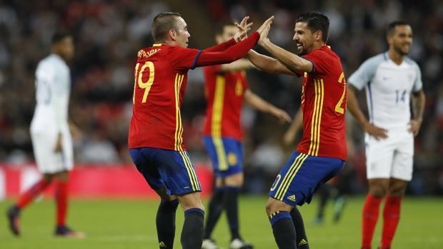 Inglaterra-España:  Reacción final en Wembley