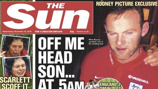 Inglaterra-España:  Filtran las imágenes de Rooney borracho en la concentración de Inglaterra antes de medirse a España