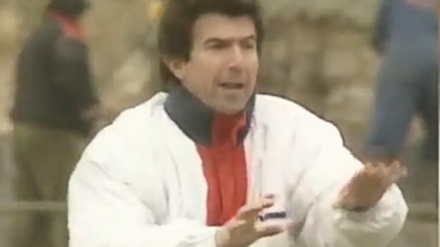 Juanito, en su etapa como entrenador del Mérida