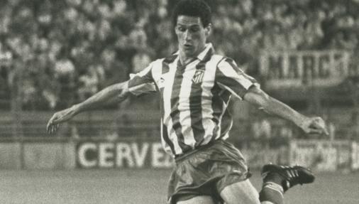 Baltazar, uno de los dos autores de tripletes en el derbi del Calderón