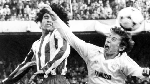 Hugo Sánchez, en su etapa como jugador del Atlético