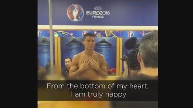 El emotivo discurso de Cristiano tras la final de la Eurocopa