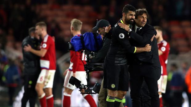 Middlesbrough-Chelsea:  Diego Costa pone líder al Chelsea