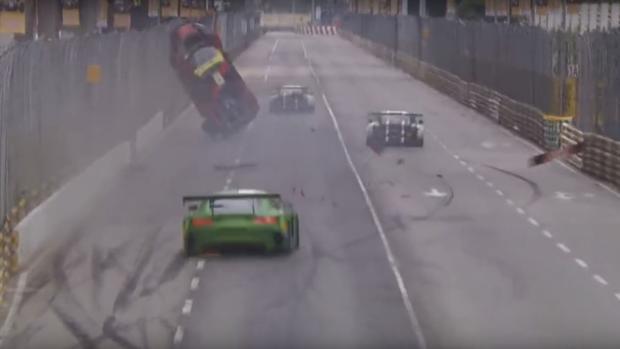 El brutal accidente que no le impidió ganar la carrera