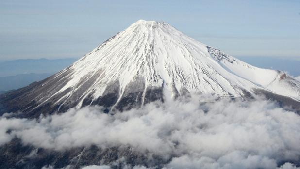Imagen del monte Fuji, el pico más alto de Japón