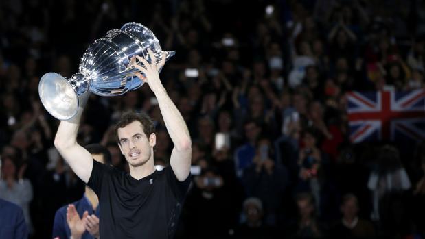 Andy Murray, con la Copa de Maestros