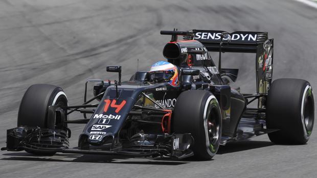 Fernando Alonso, al volante del McLaren