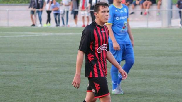 Rubén Sánchez, el juvenil expulsado del Reus