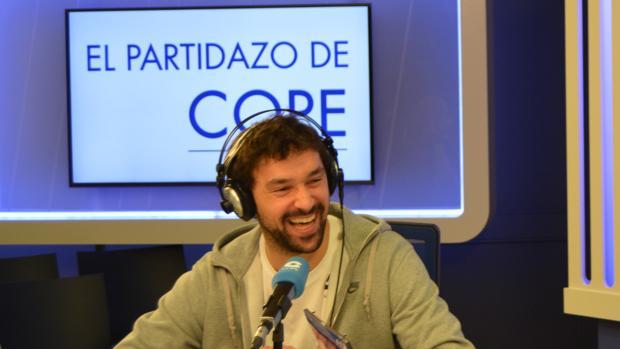 Sergio Llull durante la entrevista en Cope