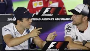 Un emotivo adiós de Button y Massa