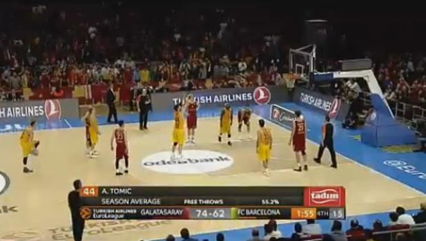 Euroliga | Galatasary-Barcelona:  El ridículo tiro libre de Ante Tomic