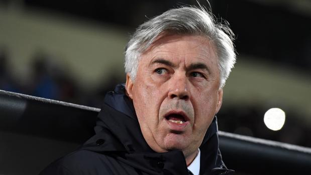 Carlo Ancelotti, en el partido de Champions frente al Rostov