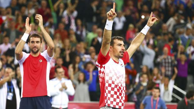 Los croatas celebran el punto