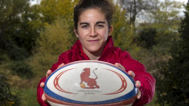 Patricia García, jugadora de la selección española de rugby