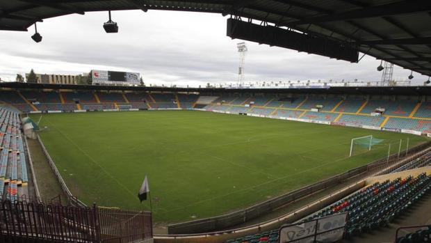 Una imagen del estadio salmantino, listo para recibir al Atlético