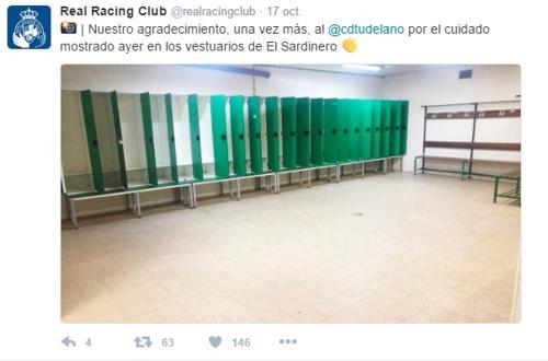 Mensaje de agradecimiento del Racing de Santander