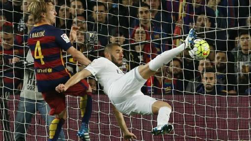 Benzema marcó el pasado curso en la victoria del madrid (1-2)