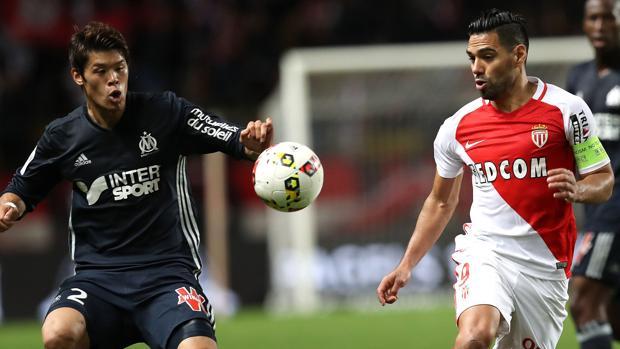 Radamel Falcao, en un partido del Mónaco en su estadio