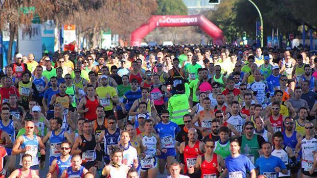 Participantes de la media maratón en 2016