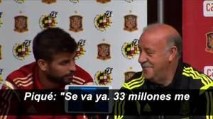 En junio del 2014 Piqué y Del Bosque protagonizaron una anécdota al comentar el traspaso de Cesc