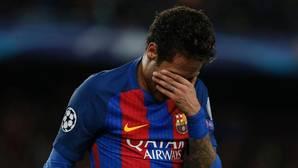 Neymar no pudo evitar las lagrimas al término del pàrtido ante la Juventus este pasado miércoles