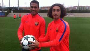 Mbolula y Cucurella son dos de las grandes bazas del juvenil A del Barcelona