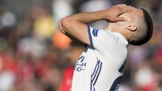 El madridista Seoane se lamenta tras la eliminación del juvenil ante el Benfica