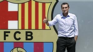Ernesto Valverde, en su primera imagen como entrenador del Barça