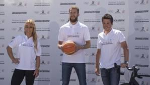 Lidia Valentín, junto a Sergio Rodríguez y Gómez Noya