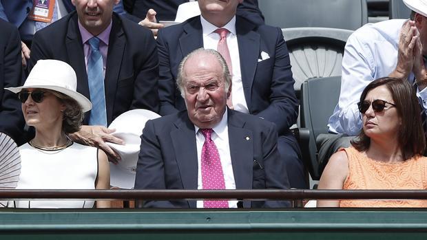 El Rey emérito, en la final de Roland Garros