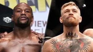 A la izq: el boxeador estadounidense Floyd Mayweather. A la dcha: el peleador de UFC, Conor McGregor