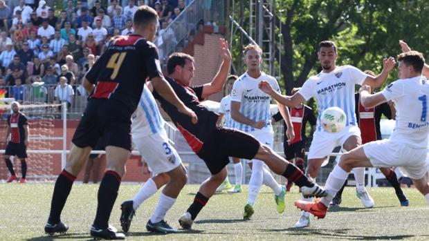 Los jugadores del Unión Adarve en el partido ante el Atlético Malagueño