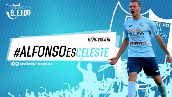 Alfonso seguirá dos temporadas en el CD El Ejido