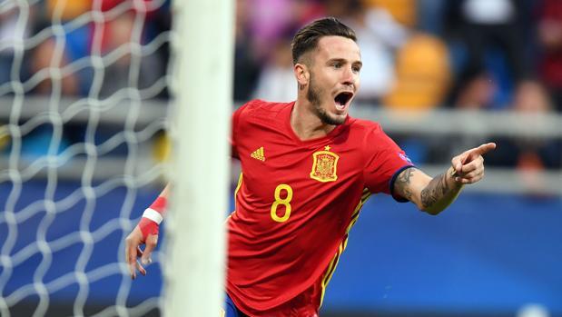 Saúl, integrante de la selección sub 21 de España