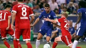 Álvaro Morata en su partido de debut con el Chelsea