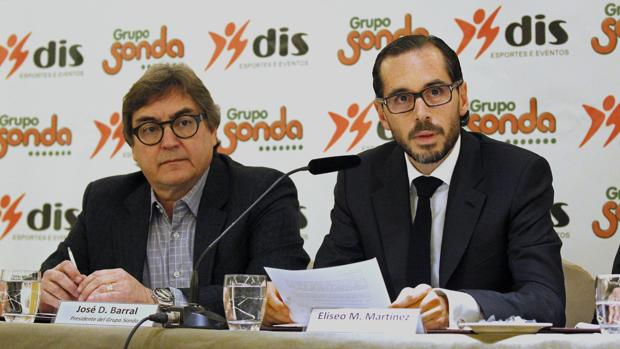 José Barral, presidente del grupo Sonda cuando Neymar fue al Barça y el abogado Eliseo Martinez