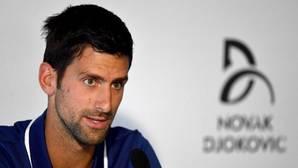 Novak Djokovic, durante el anuncio de su parón